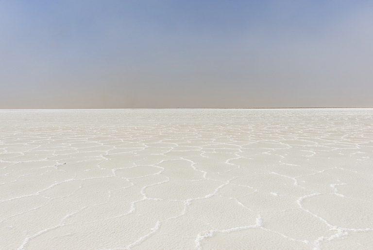 Pure salt in a salt lake, Danakil depression, Ethiopia, Africa