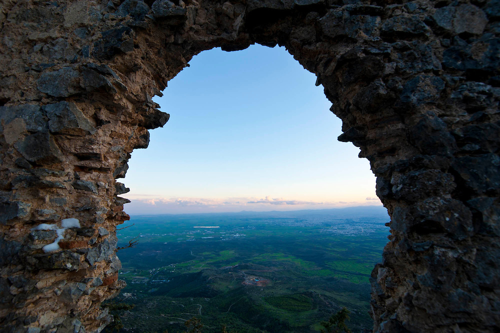 Crusader castle Buffavento, turkish part of Cyprus