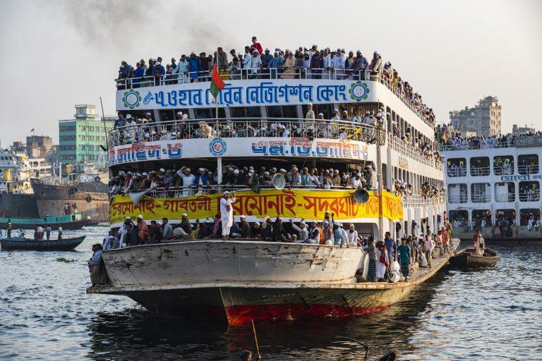 Travel Bangladesh,Overloaded passenger ferry