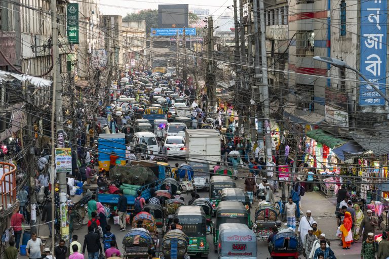 Travel Bangladesh,Rickshaws overcrowding the streets