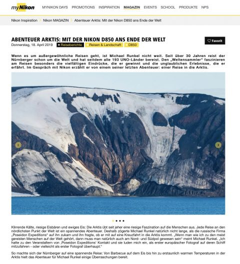 """""""Arctic Adventure: To the End of the World with the Nikon D850"""" Article with Nikon"""